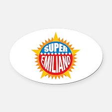 Super Emiliano Oval Car Magnet
