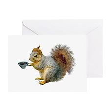 Beatnik Squirrel Greeting Card