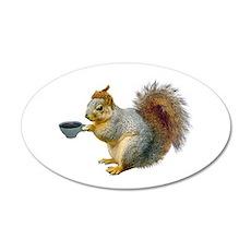 Beatnik Squirrel Wall Decal
