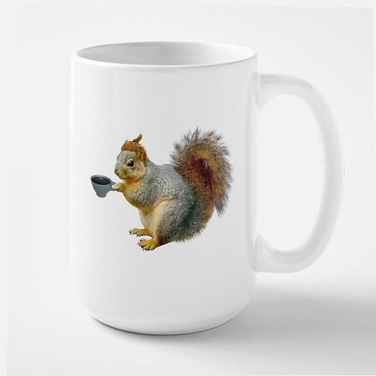 Beatnik Squirrel Large Mug