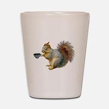 Beatnik Squirrel Shot Glass