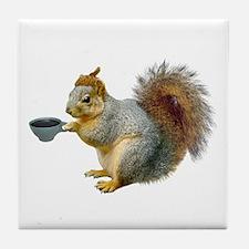 Beatnik Squirrel Tile Coaster