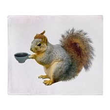 Beatnik Squirrel Throw Blanket