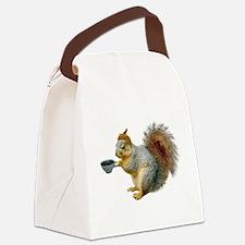 Beatnik Squirrel Canvas Lunch Bag