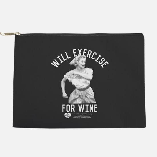 Lucy Wine Makeup Pouch