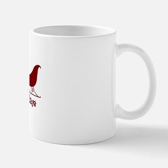 """English Bulldog """"Sleigh"""" Mug"""