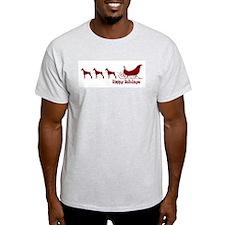 "Doberman ""Sleigh"" Ash Grey T-Shirt"