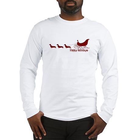 """Dachshund """"Sleigh"""" Long Sleeve T-Shirt"""