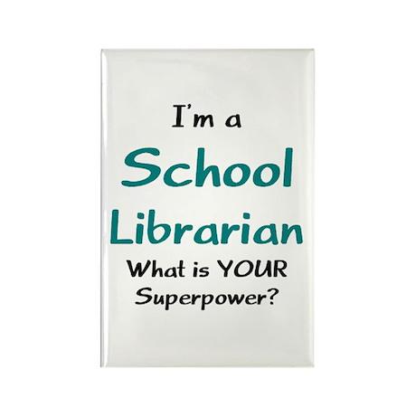 school librarian Rectangle Magnet
