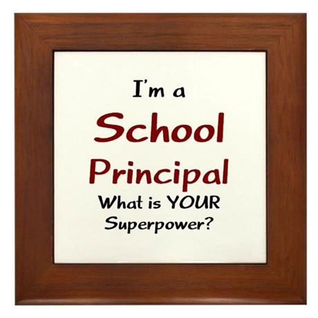 school principal Framed Tile