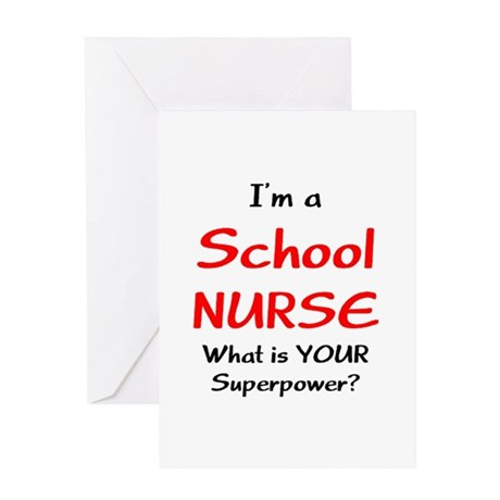 school nurse Greeting Card by AlanDarco_School_Support_People