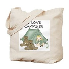 I Love Camping (Girl) Tote Bag