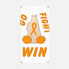 Orange GO FIGHT WIN Banner