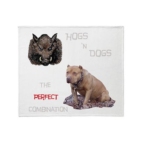 Hogs N Dogs Throw Blanket