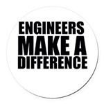 Engineers Make A Difference Round Car Magnet