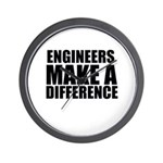 Engineers Make A Difference Wall Clock