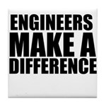 Engineers Make A Difference Tile Coaster
