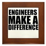 Engineers Make A Difference Framed Tile