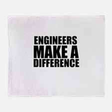 Engineers Make A Difference Throw Blanket