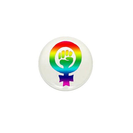 Rainbow Feminist Mini Button (10 pack)