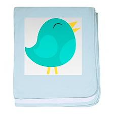 Blue Bird baby blanket