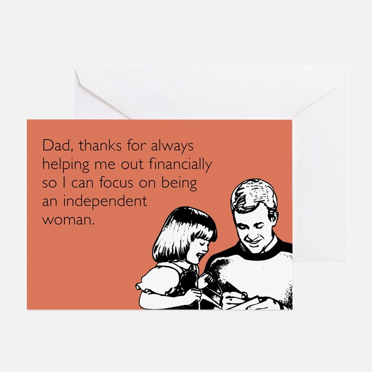 Independent Woman Card Greeting Cards