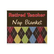 Retired Teacher Nap Blanket Throw Blanket
