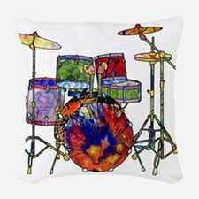 Wild Drums Woven Throw Pillow