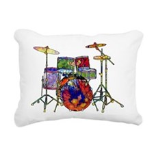 Wild Drums Rectangular Canvas Pillow