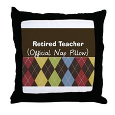 Retired Teacher Official Nap Pillow Throw Pillow
