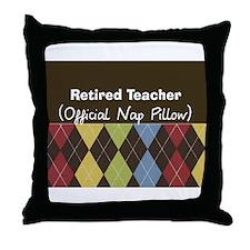 Retired Teacher Official Nap Pillow Throw Pillow