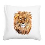 liontile.jpg Square Canvas Pillow