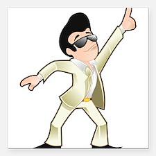 "Disco dancer Square Car Magnet 3"" x 3"""