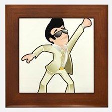 Disco dancer Framed Tile