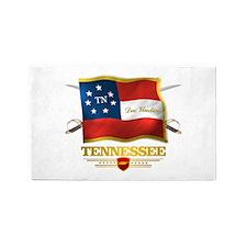 Tennessee -Deo Vindice 3'x5' Area Rug
