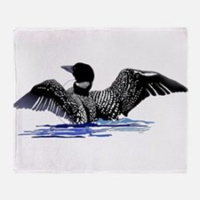loon on lake Throw Blanket