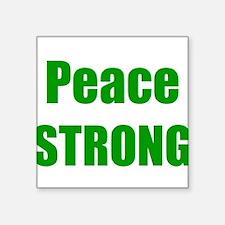 Peace STRONG gr Sticker