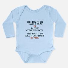 Rights Long Sleeve Infant Bodysuit