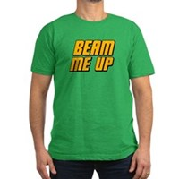 Beam Me Up Men's Fitted T-Shirt (dark)