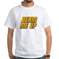 Beam Me Up White T-Shirt