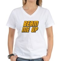 Beam Me Up Women's V-Neck T-Shirt