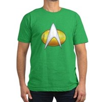 Star Trek Classic Badge Insignia Men's Fitted T-Sh