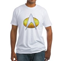 Star Trek Classic Badge Insignia Fitted T-Shirt