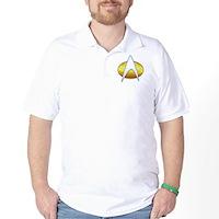 Star Trek Classic Badge Insignia Golf Shirt