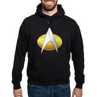 Star Trek Classic Badge Insignia Hoodie (dark)