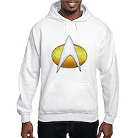 Star Trek Classic Badge Insignia Hooded Sweatshirt