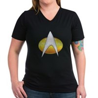 Star Trek Classic Badge Insignia Women's V-Neck Da