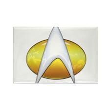 Star Trek Classic Badge Insignia Rectangle Magnet