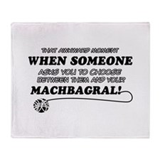Machbagral breed designs Throw Blanket