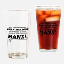 Manx breed designs Drinking Glass